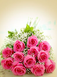 Glorious pink rose bouquet